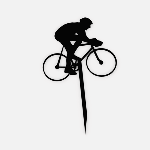 Download 3D printer templates Topper Cyclist - Biker - Ciclyst - bicycle, Abayarde