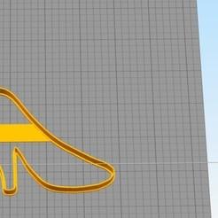 Download free 3D printer designs woman Shoe cookie cutter - Women's shoe cutter, Abayarde