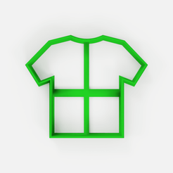 Download free STL file Soccer shirt cutter - shirt cookie cutter - fondant • 3D printing design, Abayarde