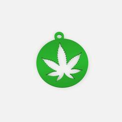 Download free STL file keychain cannabis - keychain marijuana • Model to 3D print, Abayarde