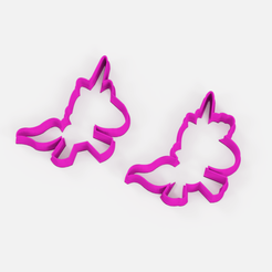 Download free STL files unicorn baby cookie cutter x2, Abayarde
