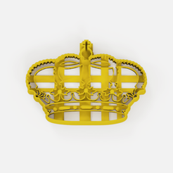 Download free 3D print files Crown cookie cutter, Abayarde
