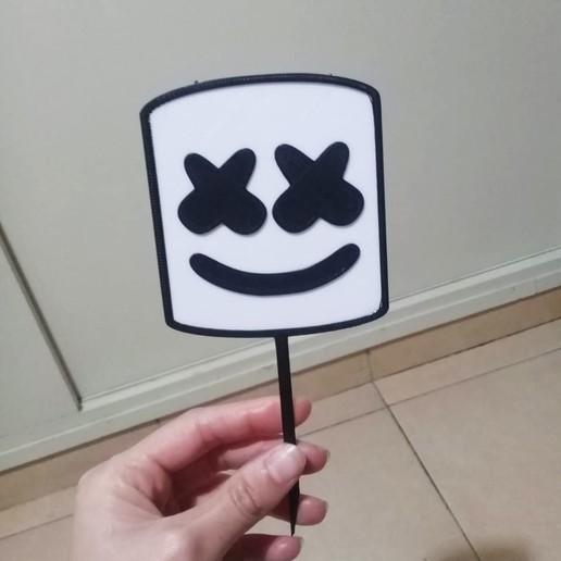 Télécharger fichier STL gratuit Topper Marshmello - Gâteaux • Objet imprimable en 3D, Abayarde