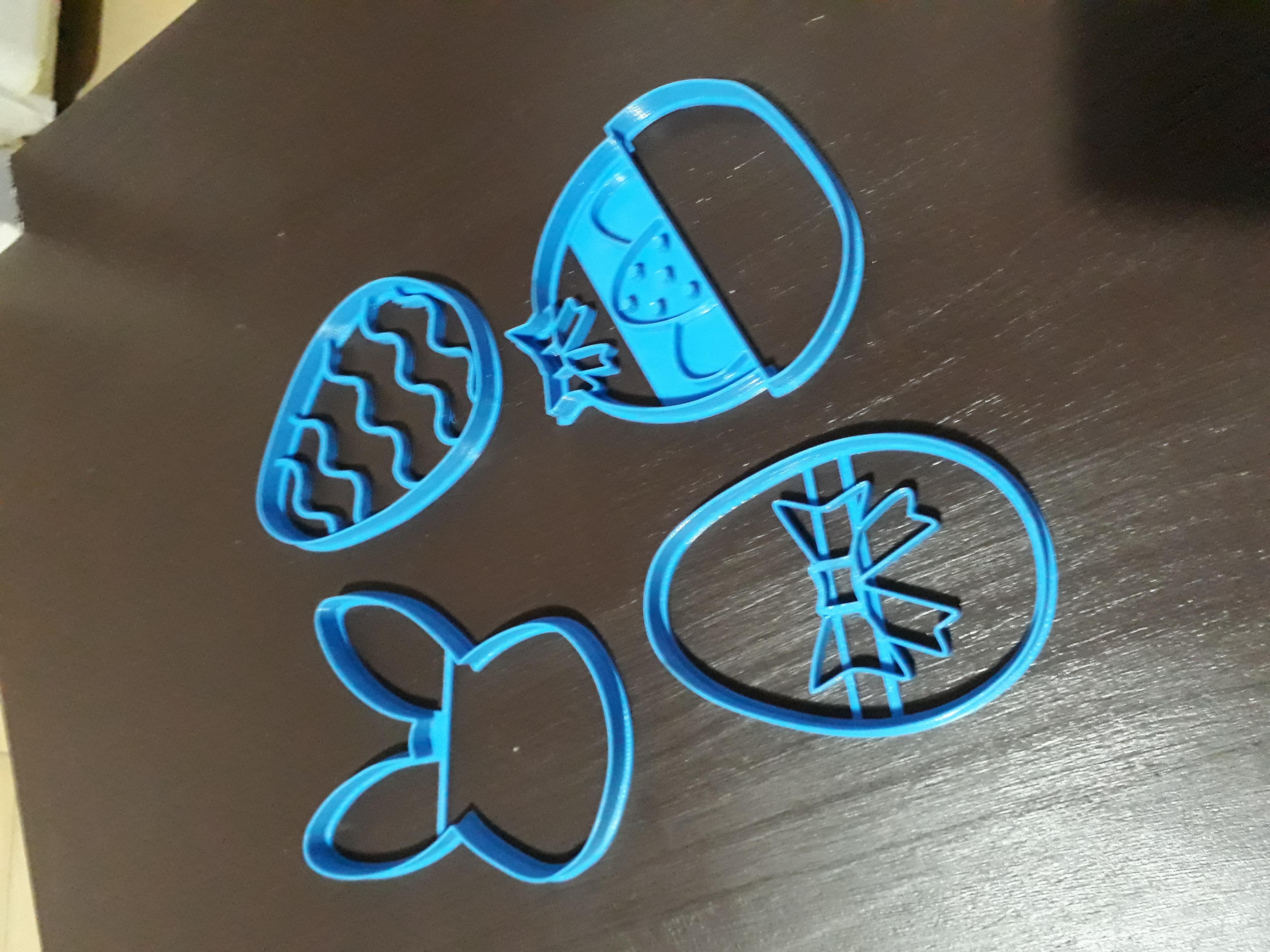 20200405_222435.jpg Télécharger fichier STL gratuit easter set x5 cookie cutter pack - ensemble de coupe-papiers de Pâques x5 • Design pour impression 3D, Abayarde