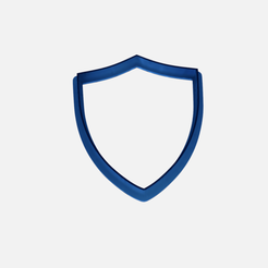 Download free STL file shield cookie cutter - cutting shield • Template to 3D print, Abayarde