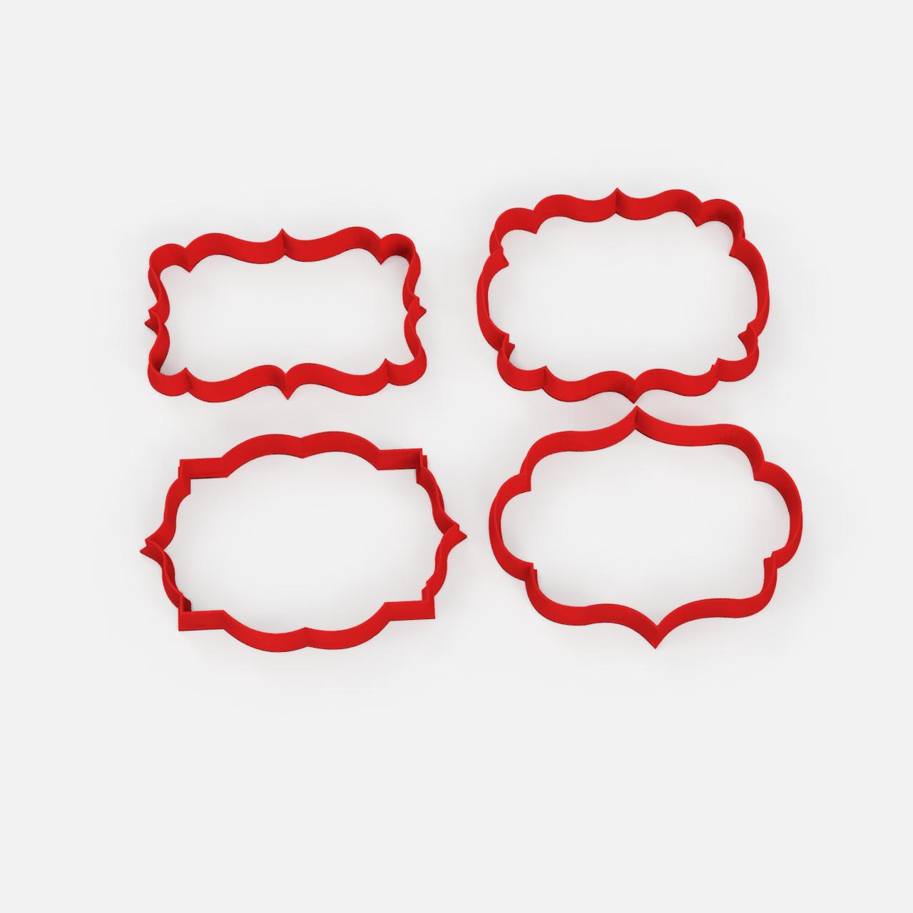 marcos frames x4.png Télécharger fichier STL gratuit Vieux cadres à l'emporte-pièce x4 - Vieux cadres à l'emporte-pièce x4 • Modèle pour imprimante 3D, Abayarde