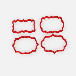 Télécharger fichier imprimante 3D gratuit Vieux cadres à l'emporte-pièce x4 - Vieux cadres à l'emporte-pièce x4, Abayarde