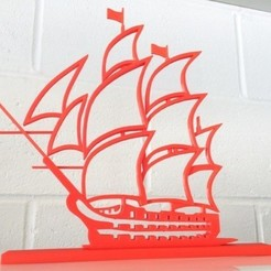 Download free 3D printing templates boat model 3d silhouette, Abayarde