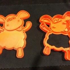 Imprimir en 3D gratis Dolly Sheep cookie cutter - oveja dolly cortante para galleta, Abayarde