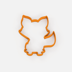 Download free STL Forest fox cookie cutter, Abayarde
