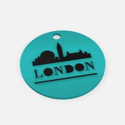 Download free STL file Keychain London - Key ring London • 3D printing model, Abayarde