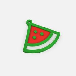 Télécharger objet 3D gratuit Porte-clé pastèque - porte-clé pastèque, Abayarde