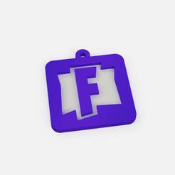 Download free STL file keychain fortnite logo - key ring fortnite logo • 3D print template, Abayarde