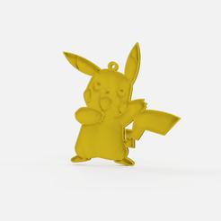 Download free STL file pikachu keychain - pikachu pikapika keychain • 3D printing object, Abayarde