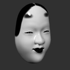 Okame3.jpg Télécharger fichier STL Masque japonais Okame Wakaonna • Objet imprimable en 3D, KopperNico