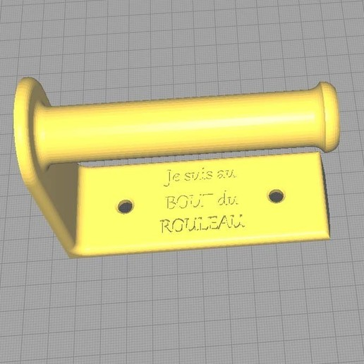 Download free STL Toilet paper holder, Eddy89
