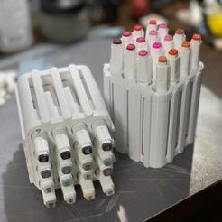 Download 3D printer templates Art Marker Storage Array, DaveRigDesign