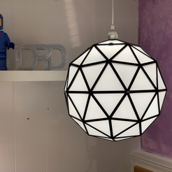 Download 3D printing models GeoSphere Lamp, DaveRigDesign