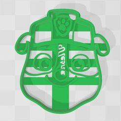 paw patrol rubble.JPG Download STL file cookie cutter Rubble paw patrol • 3D print object, Ulesna3D