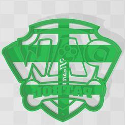 paw patrol logo.JPG Download STL file cookie cutter logo paw patrol • Model to 3D print, Ulesna3D