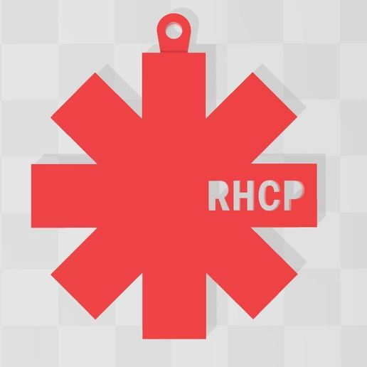 Download 3D printing models red hot chili peppers keychain, Ulesna3D