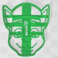 Descargar archivo 3D cookie cutter chase paw patrol , Ulesna3D