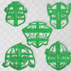 pack paw patrol.JPG Download STL file cookie cutter paw patrol pack x5 • 3D printer template, Ulesna3D