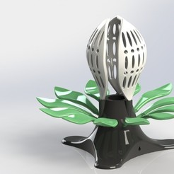 Download free STL file Bright flower - floral mood lamp • 3D print design, SG3D