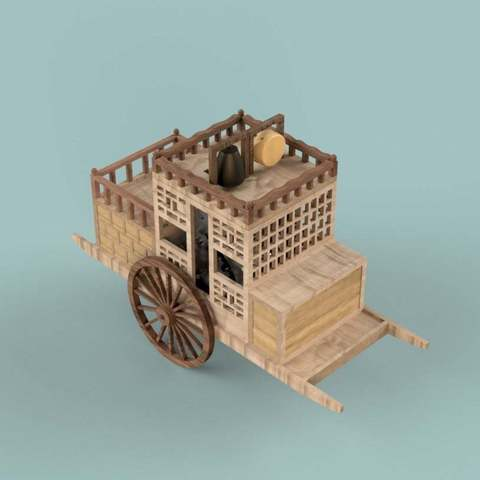 Download free 3D printer designs Korean traditional distance measuring carriage, BetaMan