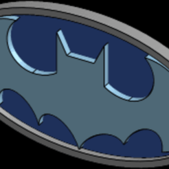 Descargar modelo 3D gratis Logo Batman, Carlinsmuz