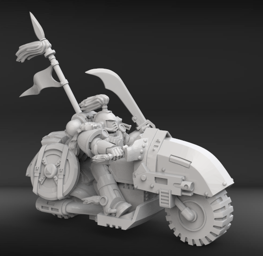 ws1.png Download free STL file Hunting biker with scars from the white steppe • 3D print design, KarnageKing