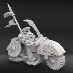 Download free STL file Hunting biker with scars from the white steppe • 3D print design, KarnageKing