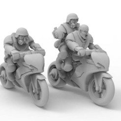 d259a781cdcb17cc2d8a1d0c1be74a27_display_large.jpg Download free STL file Gaslands bikers • 3D print design, KarnageKing