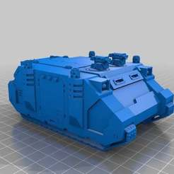 Download free STL file Rhinoceros Sci-Fi Marine transport • Model to 3D print, KarnageKing