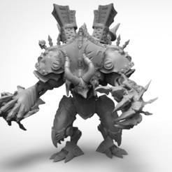 deathjack pose1 render.png Download free STL file Deathjack of Cryx • Template to 3D print, KarnageKing