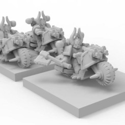 0ab2f279329780cccc3d375604c56488_display_large.jpg Download free STL file 6mm epic scale Chaos bikers • 3D printer template, KarnageKing
