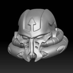 Download free 3D printing templates Alternate evil space warrior head, KarnageKing