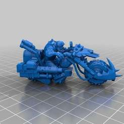 Descargar archivos STL gratis Ork motociclista de guerra, KarnageKing