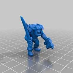 Impresiones 3D gratis Ork boy con pistola y espada, KarnageKing