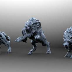 4205047bc88b65626fb36babc8b2c910_display_large.jpg Download free STL file The Bionic wolves • 3D printer model, KarnageKing