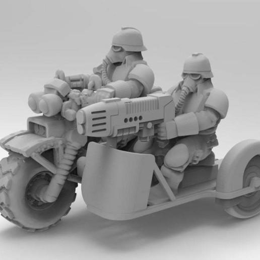 Télécharger plan imprimante 3D gatuit Vélo du corps de la mort avec side-car, KarnageKing