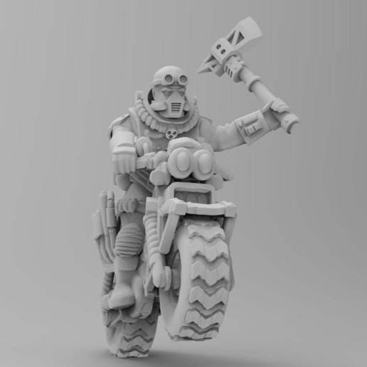Download free 3D printer designs Coyote Biker cult leader, KarnageKing