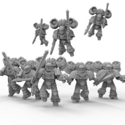 Download free STL Assault marine squad, KarnageKing