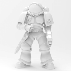 high poly.png Download free STL file Terran spacesuit defender leader • 3D printable model, KarnageKing