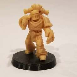 Download free 3D printing designs Marine squad leader with fist of power, KarnageKing