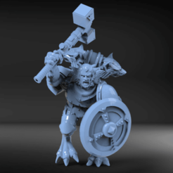 Download free 3D printing templates Wolf time Werewolf, KarnageKing