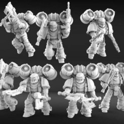 Download free STL file Marine assault squad Eaters of Worlds • 3D printer template, KarnageKing