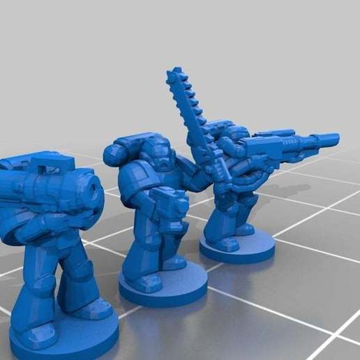 Download free 3D printer designs More 6mm epic marines, KarnageKing