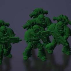 Download free 3D printing files Marine Squad, KarnageKing
