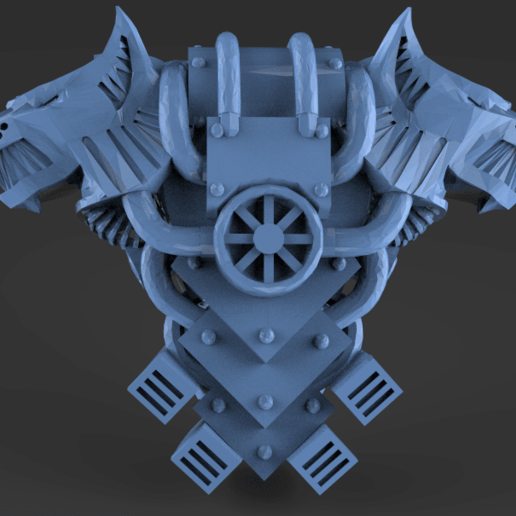 Wolf_head_pack.png Download free STL file Wolf head power pack • 3D printable object, KarnageKing